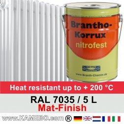 Heizkörperlack Matt RAL 7035 Lichtgrau 5 Liter