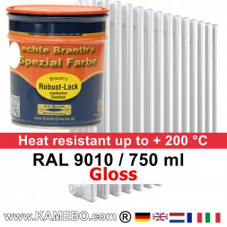 Heizkörperlack Glänzend RAL 9010 Weiß 750 ml