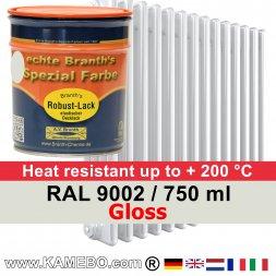 Heizkörperlack Glänzend RAL 9002 Grauweiß 750 ml