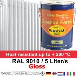 Heizkörperlack Glänzend RAL 9010 Weiß 5 Liter