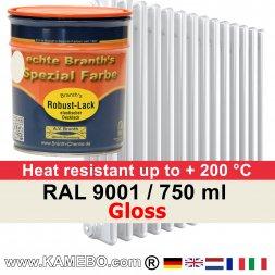 Heizkörperlack Glänzend RAL 9001 Cremeweiß 750 ml
