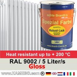 Heizkörperlack Glänzend RAL 9002 Grauweiß 5 Liter