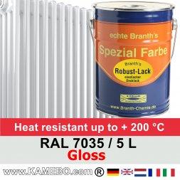 Heizkörperlack Glänzend RAL 7035 Lichtgrau 5 Liter