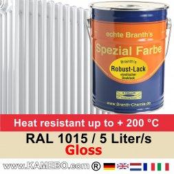 Heizkörperlack Glänzend RAL 1015 Hellelfenbein 5 Liter