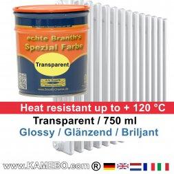 Heizkörperlack Klarlack Transparent Glänzend 750 ml