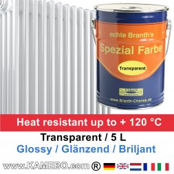 Heizkörperlack Klarlack Transparent Glänzend 5 Liter