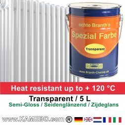 Heizkörperlack Klarlack Transparent Seidenglänzend 5 Liter