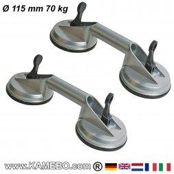 Saugheber Ø 115 mm 100 kg 2 Stück