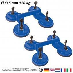 Saugheber Ø 115 mm 120 kg 2 Stück