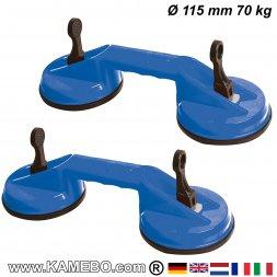 Saugheber Ø 115 mm 70 kg 2 Stück