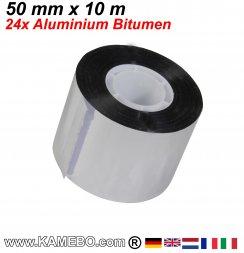 Ruban de réparation et étanchéité aluminium et le bitume 50 mm x 10 m 24 pièces