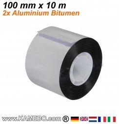 Ruban de réparation et étanchéité aluminium et le bitume 100 mm x 10 m 2 pièces