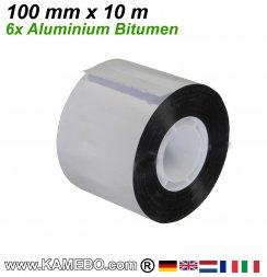 Aluminium Bitumen Reparaturband 100 mm x 10 m 6 Stück