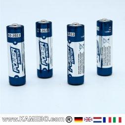 AA Super Batterie alcaline LR6, 4 pezzi