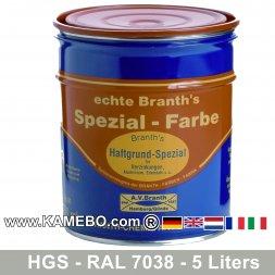 BRANTH's Haftgrund Spezial HGS RAL 7038 Achatgrau 5 Liter