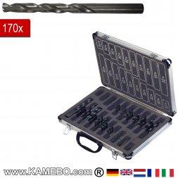 HSS-R-Spiralbohrer Kit 170 Teile