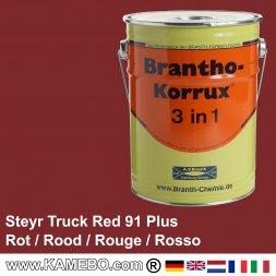 BRANTHO-KORRUX 3 in 1 Rostschutzfarbe Steyr LKW Rot 91 Plus