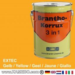 BRANTHO-KORRUX 3 in 1 Rostschutzfarbe Extec Baumaschinenlack Gelb