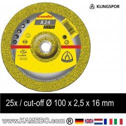 KLINGSPOR Trennscheibe A 24 Extra Ø 100 x 2,5 x 16 mm 25 Stück