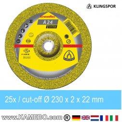 KLINGSPOR Trennscheibe A 24 Extra Ø 230 x 2 x 22 mm 25 Stück