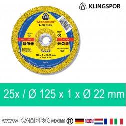 KLINGSPOR Trennscheibe A 60 Extra Ø 125 x 1 x Ø 22 mm 25 Stück