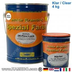 BRANTH's 2-K FLEXI LACK Klarlack 4 kg