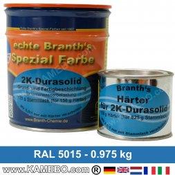 BRANTHO-KORRUX 2K DURASOLID RAL 5015 Himmelblau 975 Gramm