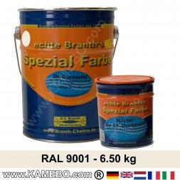 BRANTHO-KORRUX 2K DURASOLID RAL 9001 Cremeweiß 6,5 kg