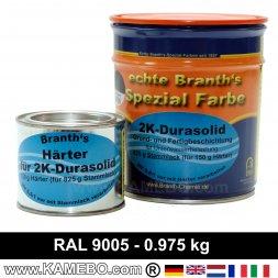 BRANTHO-KORRUX 2K DURASOLID RAL 9005 Schwarz 975 Gramm