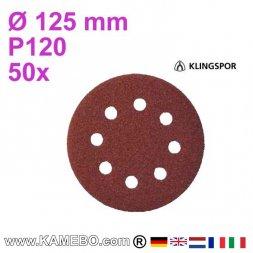 KLINGSPOR Schleifpapier PS 22 K Ø 125 mm 50 Stück P120