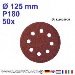 KLINGSPOR Schleifpapier PS 22 K Ø 125 mm 50 Stück P180