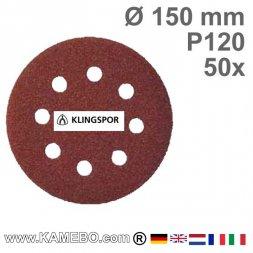 KLINGSPOR Schleifpapier PS 22 K Ø 150 mm 50 Stück P120