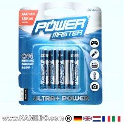 AAA Super Batteries alcalines LR03, 4 pièces