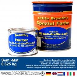 BRANTH's 2K ANTI-GRAFFIC Klarlack 625 Gramm Seidenmatt