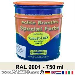 BRANTH's ROBUST LACK Metallschutzlack RAL 9001 Cremeweiß 750 ml