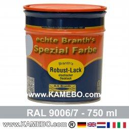 BRANTH's ROBUST LACK Metallschutzlack RAL 9006/7 Graualuminium / Silberaluminium 750 ml