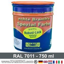 BRANTH's ROBUST LACK Metallschutzlack RAL 7011 Eisengrau / Dunkelgrau 750 ml