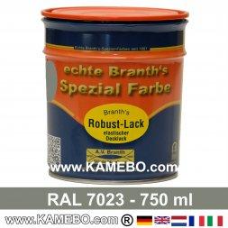 BRANTH's ROBUST LACK Metallschutzlack RAL 7023 Betongrau 750 ml