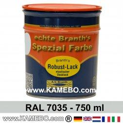 BRANTH's ROBUST LACK Metallschutzlack RAL 7035 Lichtgrau 750 ml