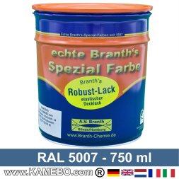 BRANTH's ROBUST LACK Metallschutzlack RAL 5007 Brillantblau 750 ml