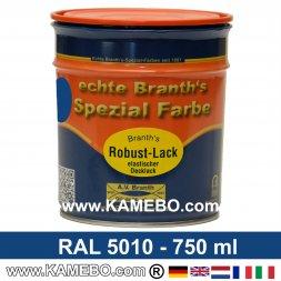 BRANTH's ROBUST LACK Metallschutzlack RAL 5010 Enzianblau 750 ml