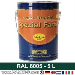 BRANTH's ROBUST LACK Metallschutzlack RAL 6005 Moosgrün 5 Liter