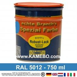 BRANTH's ROBUST LACK Metallschutzlack RAL 5012 Lichtblau 750 ml