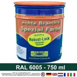 BRANTH's ROBUST LACK Metallschutzlack RAL 6005 Moosgrün 750 ml