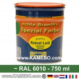 BRANTH's ROBUST LACK Metallschutzlack RAL 6010 / 0610 Naturgrün 750 ml