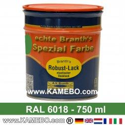 BRANTH's ROBUST LACK Metallschutzlack RAL 6018 Gelbgrün 750 ml