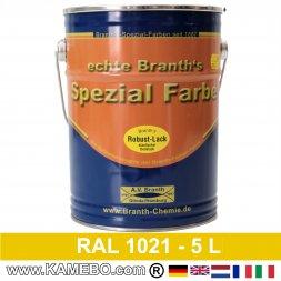BRANTH's ROBUST LACK Metallschutzlack RAL 1021 Rapsgelb 5 Liter