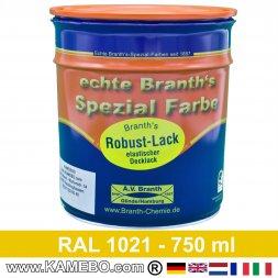 BRANTH's ROBUST LACK Metallschutzlack RAL 1021 Rapsgelb 750 ml