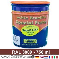 BRANTH's ROBUST LACK Metallschutzlack RAL 3009 Oxidrot / Rotbraun 750 ml