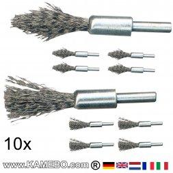 Stahldraht Stiftbürsten / Pinselbürsten 20 Stück